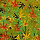 Marijuana Cannabis Weed Rasta w/ 4:20 Hidden In Design by MarijuanaTshirt