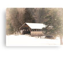 New England Winter ~ Covered Bridge Metal Print
