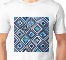 Test Pattern (Blue) Unisex T-Shirt