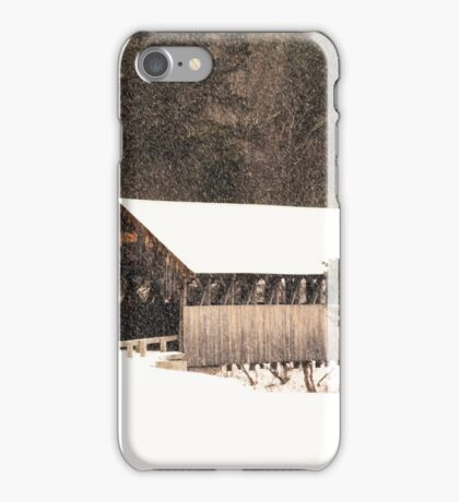New England Winter ~ Covered Bridge iPhone Case/Skin