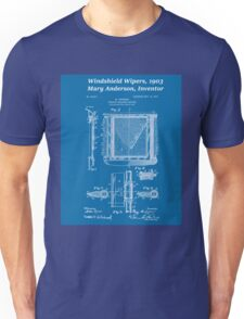 Mary Anderson - Windshield Wipers - Blueprint Unisex T-Shirt