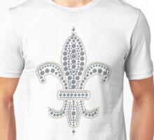 White Fleur de Lis Unisex T-Shirt