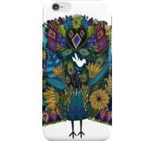 peacock garden white iPhone Case/Skin