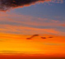Sunset over the Atlantic - Glencolmcille, Ireland Sticker