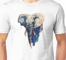 Elephant Watercolor (Blue) Unisex T-Shirt