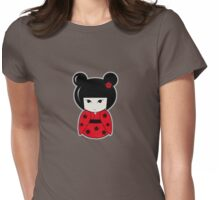 Kokeshi Red Womens Fitted T-Shirt