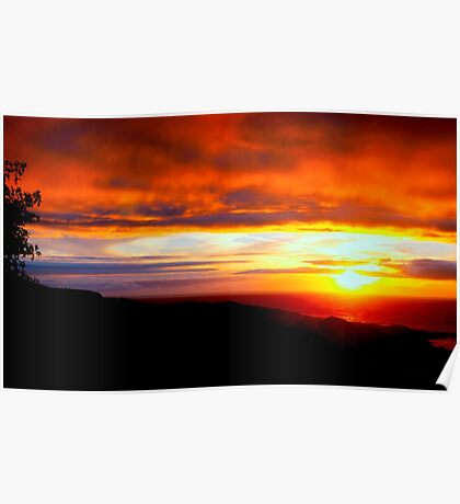 Sunset  - Glencolmcille, Ireland Poster
