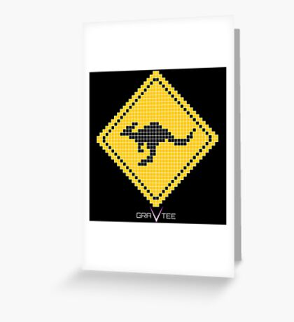 Kangaroo Xing Greeting Card