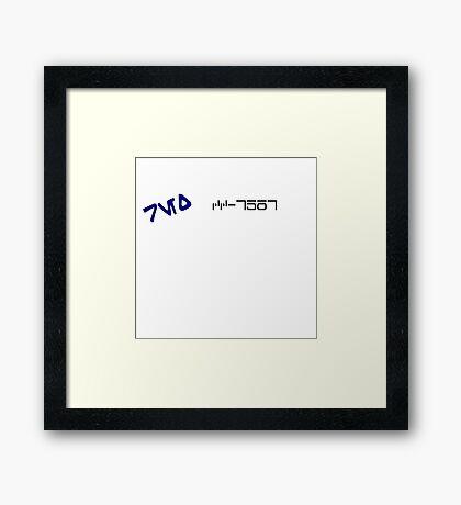 CC-7567 Capt. Rex. Framed Print