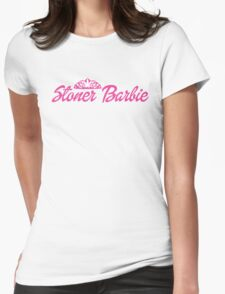 Stoner Barbie Womens Fitted T-Shirt