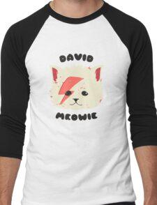 david meowie Men's Baseball ¾ T-Shirt