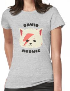 david meowie Womens Fitted T-Shirt