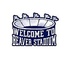 Vintage Beaver Stadium Photographic Print