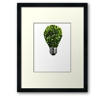 Green Lightbulb Framed Print