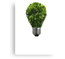 Green Lightbulb Canvas Print
