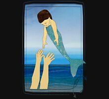 Triton tossing his mermaid daughter Mens V-Neck T-Shirt