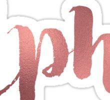 Rose Gold Alpha Sticker