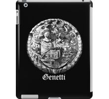 Genetti Coat-of-Arms with Surname in Reverse iPad Case/Skin