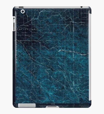 USGS TOPO Map California CA Tesla 301819 1907 62500 geo Inverted iPad Case/Skin