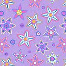 Purple Floral Drawn Pattern by kotopes