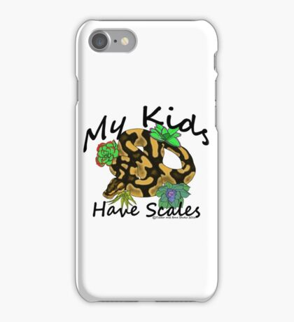 My Kids Have Scales Normal Ball Python iPhone Case/Skin