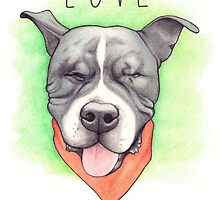 LOVE IS BLIND - Stevie the wonder dog by PaperTigressArt