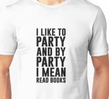 Book Reading Party Unisex T-Shirt
