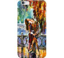 KISS AFTER THE RAIN - Leonid Afremov iPhone Case/Skin