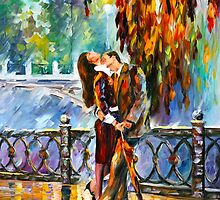 KISS AFTER THE RAIN - Leonid Afremov by Leonid Afremov