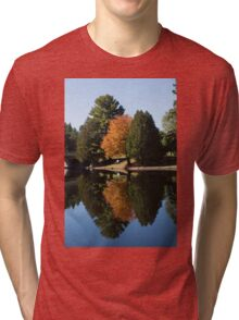 Defying the Green - the First Autumn Tree Tri-blend T-Shirt