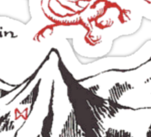 Lonely Mountain, Smaug, The Hobbit, LOTR Sticker
