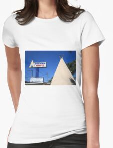 Route 66 - Wigwam Motel Womens Fitted T-Shirt