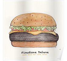 Firestone deluxe - junk food cafe racer Poster