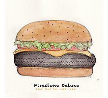 Firestone deluxe - junk food cafe racer Photographic Print