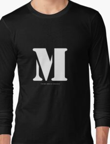 M - White Text Long Sleeve T-Shirt