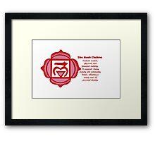 Muladhara; The Root Chakra - Design 3 Framed Print