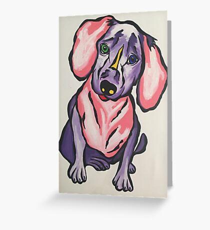 'Frankie' the sausage dog Greeting Card