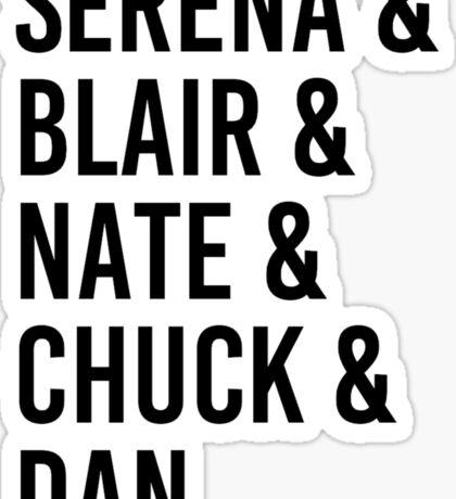 Gossip Girl Characters Sticker