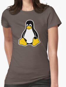 Linux Tux Womens Fitted T-Shirt