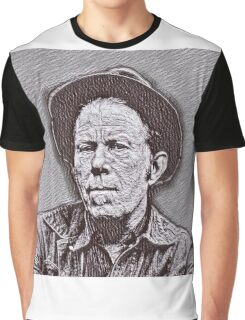 Tom Waits Drawing Graphic T-Shirt