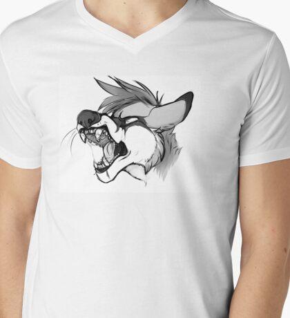 Rawr Fox Mens V-Neck T-Shirt