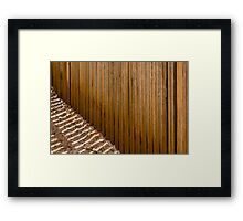 Between The Pickets Framed Print