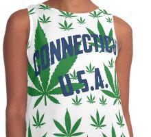 Connecticut  Marijuana Cannabis Weed Connecticut Contrast Tank