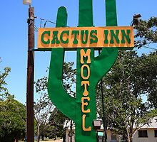 Route 66 - Cactus Inn Motel by Frank Romeo
