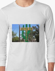 Route 66 - Cactus Inn Motel Long Sleeve T-Shirt