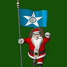 Santa Claus With Ensign Of Houston by Mythos57