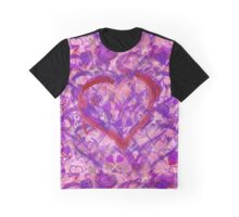 Romantic Scribble Heart Red 17 Graphic T-Shirt