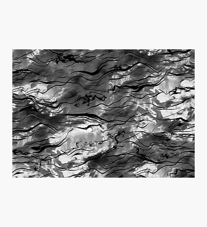 Black and White Smokey Cloud Background Photographic Print