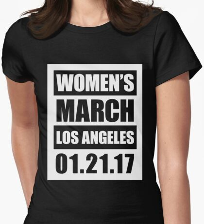Women's March Los Angeles 1.21.17 Womens Fitted T-Shirt