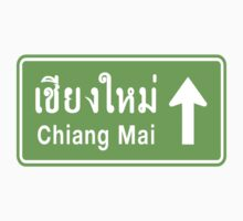 Chiang Mai, Thailand Ahead ⚠ Thai Highway Sign ⚠ Kids Clothes